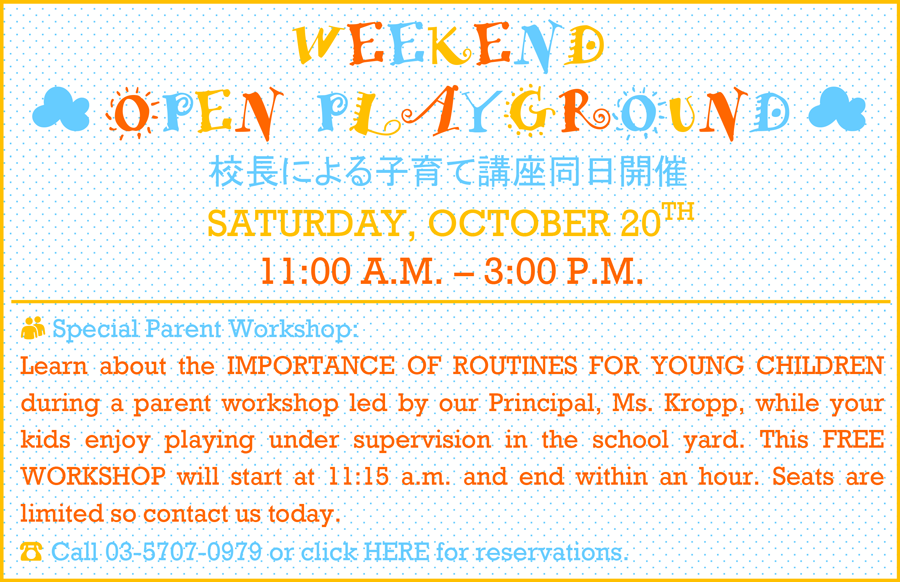 KPIS WEEKEND OPEN PLAYGROUND