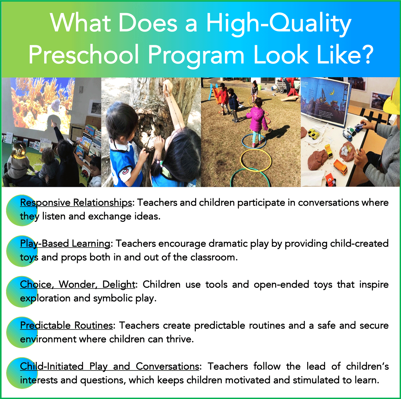 Komazawa park international school | What Does a high-quality Preschool Program Look Like?
